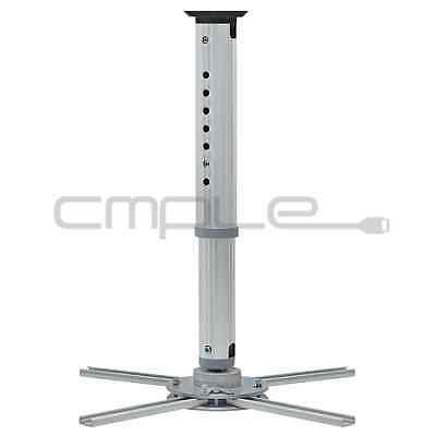 Projector Mount  Universal Ceiling Bracket LCD DLP Tilt 360° Swivel 44lbs Silver