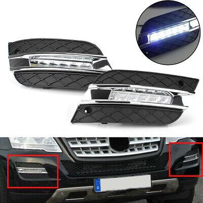 Paar LED Tagfahrlicht Weiß DRL Lampe Für Benz W164 ML-Klasse ML350 2009-2011 #D
