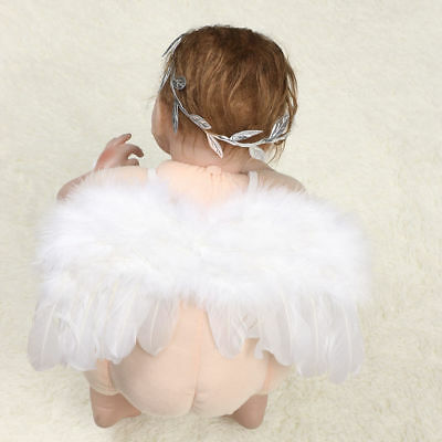 Baby Kids Angel Wings Feather Fairy Masquerade Party Fancy Dress Costume 7.3inch (Masquerade Dresses Kids)