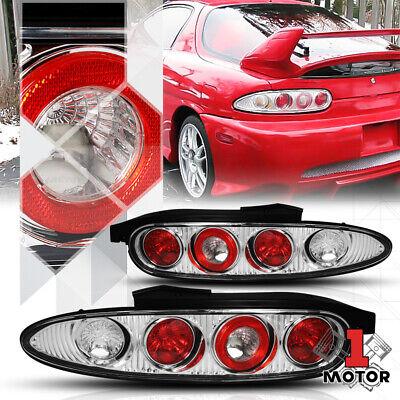Chrome/Red *EURO ALTEZZA* Tail Light Brake Reverse Lamp for 92-96 Mazda MX-3 MX3 1994 Mazda Mx 3 Brake