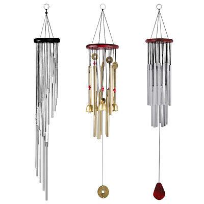 Large Muti-Tubes Windchime Chapel Bells Metal Wood Wind Chimes Door Home Decor ()