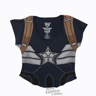 Captain America der Winter Soldat Kostüm Mode Dollman Junior - Captain America Winter Kostüm