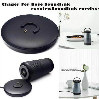 US Black Charging Dock Station Cradle Charger Fr Bose SoundLink Revolve Revolve+ ()