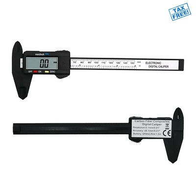 Digital Caliper Micrometer Ruler Electronic Gauge Measuring Tool Vernier 0-6 in.