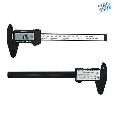 Digital Caliper Micrometer Ruler Electronic Gauge Measuring Tool Vernier 0-6 In.