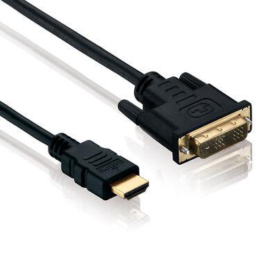 Hd Pc (1,5m HDMI auf DVI Kabel 1080p FULL HD PC TV Video Monitor Beamer Adapter Kabel)