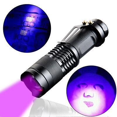 1pcs High Powered UV Lamp Black Light Ultra Violet Flashlight 365nm 5W LED