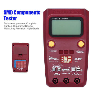 Digital Smd Components Tester 0.01mh To 20h Esr Meter Inductance High Precision