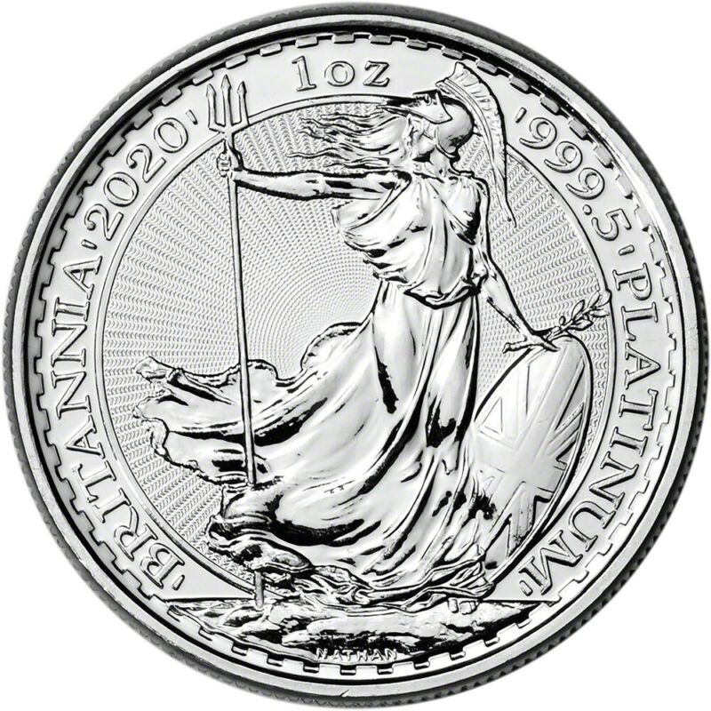 2020 Great Britain Platinum Britannia £100 - 1 oz - BU