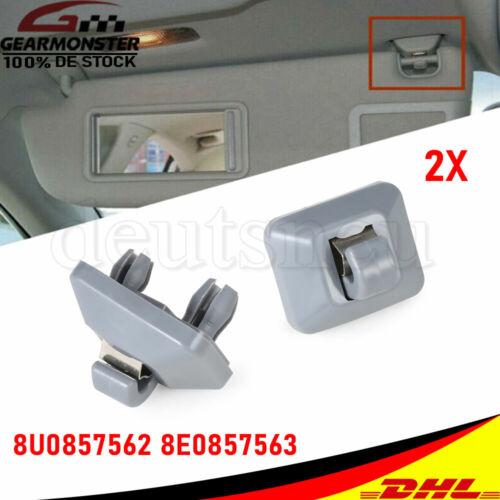 2X Halter Halterung Auto Sonnenblende Haken für Audi A1 A4 A5 Q3 Q5 8U0857562A