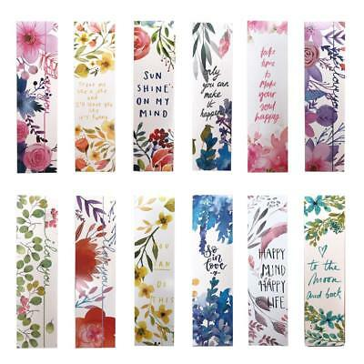Inspirational Watercolor Flower Bookmarks | Reading | Scrapbook | Gift | Love