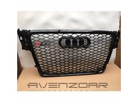 AUDI A4 B8 TO RS4 GRILLE S4 SE S LINE BLACK MESH FRAME RINGS 2008 – 2012