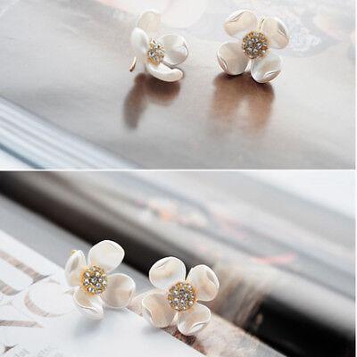 Diamond Accessories Crystal Imitation Flower Stud Shell Pearl Earrings Jewelry Diamond Flower Drop Earrings