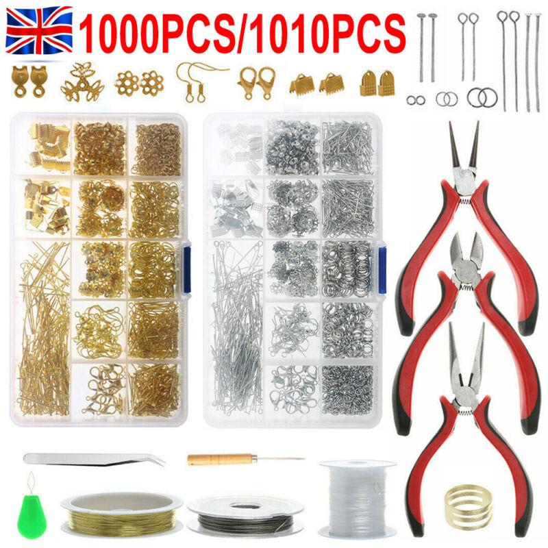 1010Pcs Jewelry Making Kit DIY Sterling Beading Repair Tools Craft Supplies Set