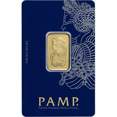 10 gram Gold Bar - PAMP Suisse - Fortuna - 999.9 Fine in Sealed Assay