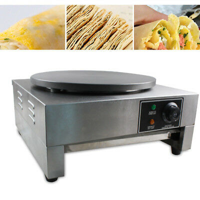 Commercial Nonstick Electric 1640cm Single Head Crepe Maker Pancake Machine 3kw