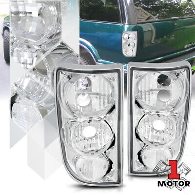 Chrome/Clear *EURO ALTEZZA* Tail Light Brake Lamp for 95-05 Blazer/Jimmy/Bravada