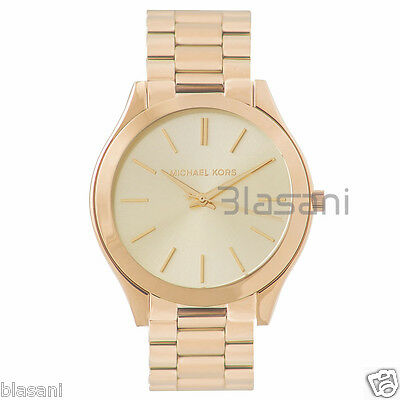 Michael Kors Original MK3179 Women's Slim Runway Gold Tone Stainless Steel Watch