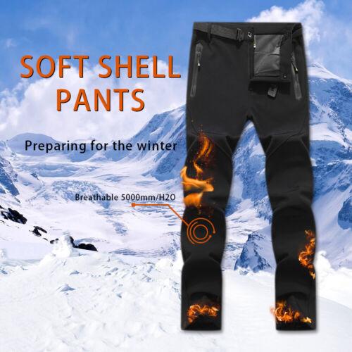 Women's Winter Waterproof Cargo Snow Pants Fleece Lined Warm