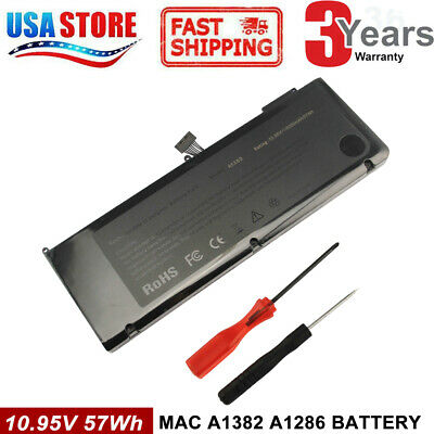 A1382 battery For MacBook Pro 15'' A1286(Early 2011 Late 2011 Mid 2012)