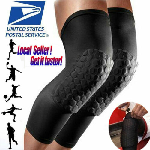 2 pcs Basketball Knee Pads Sport Leg Sleeves Protector Gear