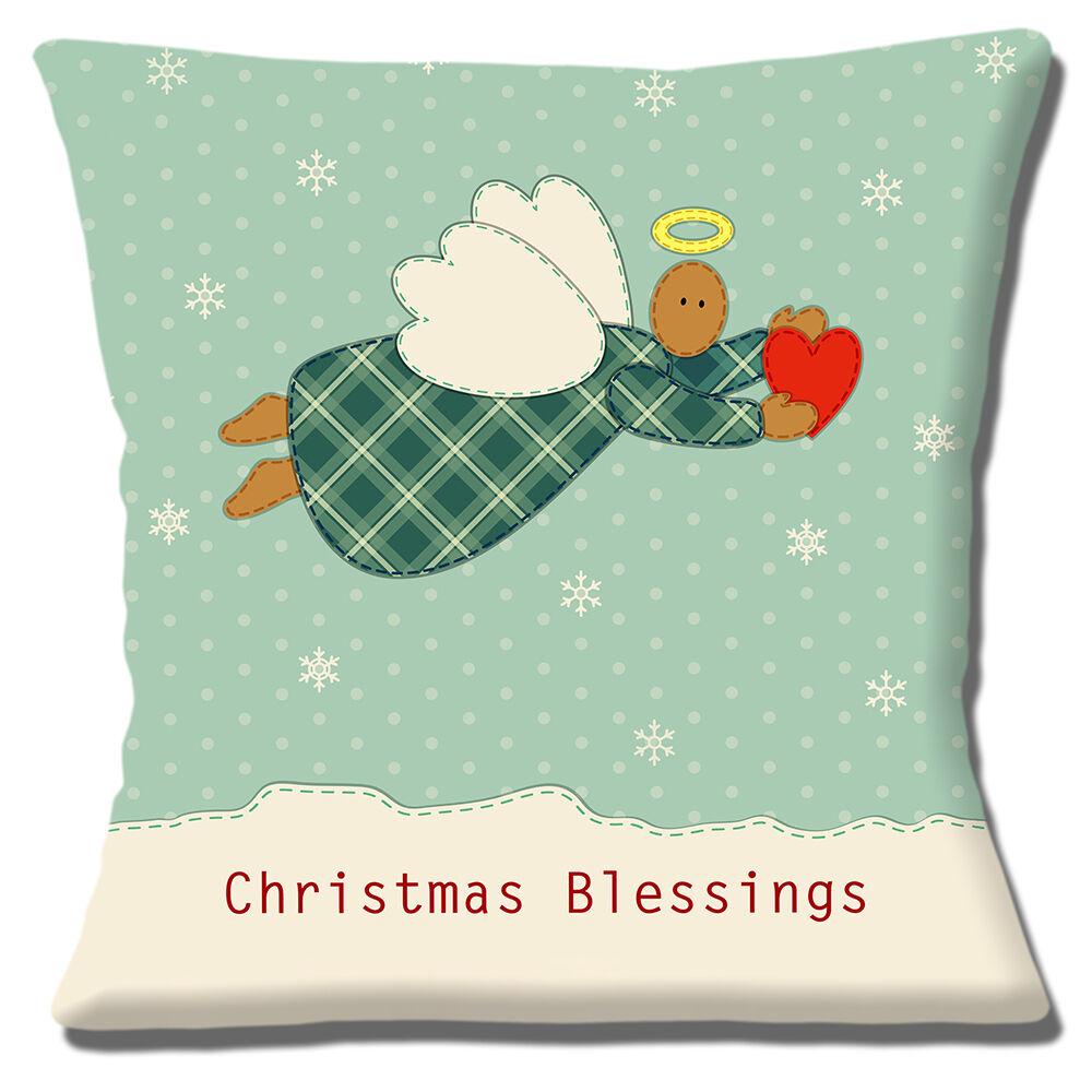 Original TryPinky/® Handmade Kissenbezug 30 X 40 cm Weihnachtsmuster Rot Beige Kissenh/ülle f/ür Kissen Weihnachten Eichh/örnchen Weihnachtsmann