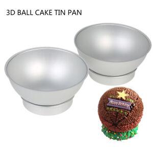 3D SPORTS BALL CAKE TIN PAN FOOTBALL TENNIS BASKETBALL GOLF HALF BALL SPHERE
