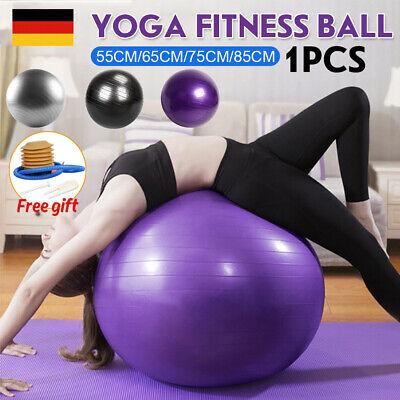 55 65 75 85cm Gymnastikball Fitnessball Yogaball Fitness Sitzball Mit Pumpe DE