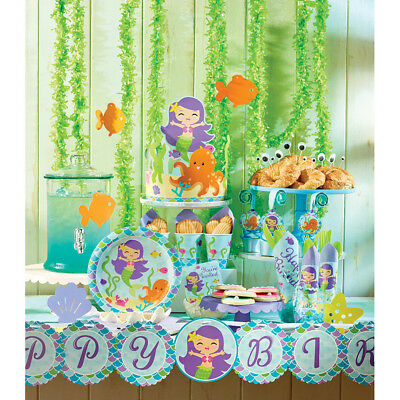 Mermaid Friends Party Supplies Tableware, Decorations, Balloons, Invites, Bags