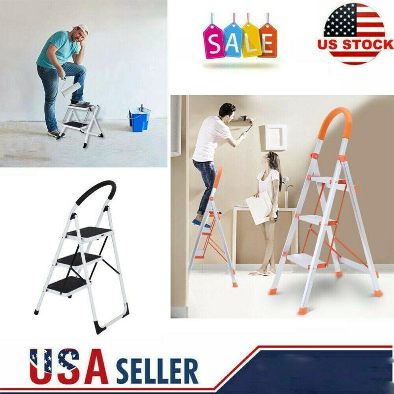 2 3 step ladder folding stepladder aluminum