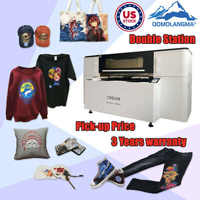 Usa Stock Double Station Direct To Garment Printer Dtg T-shirt Printing Machine