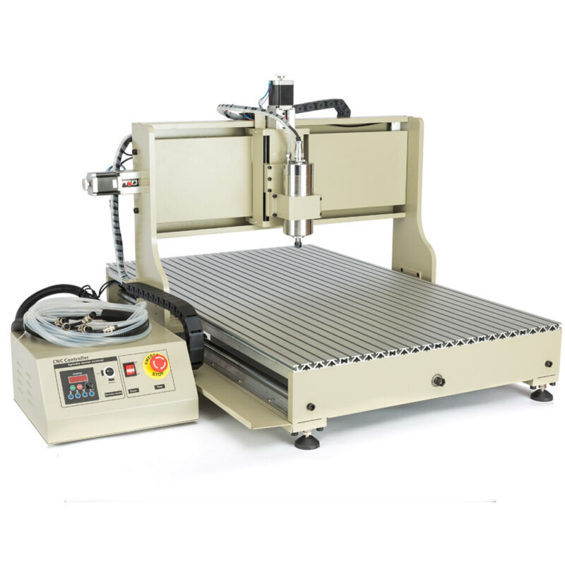 USB 4 axis CNC 6090Z Router Engraver Metal Cutting Milling Machine 1.5KW / 2.2KW
