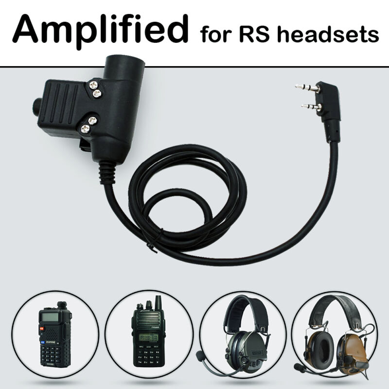 Nexus U94 PTT AMPLIFIED version for REAL STEAL headset working with Comtacs/MSA