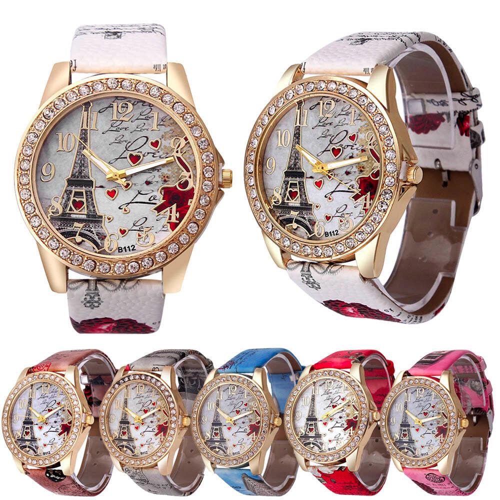 $1.96 - Fashion women's Watch Leather stainless steel luxury analog quartz watch