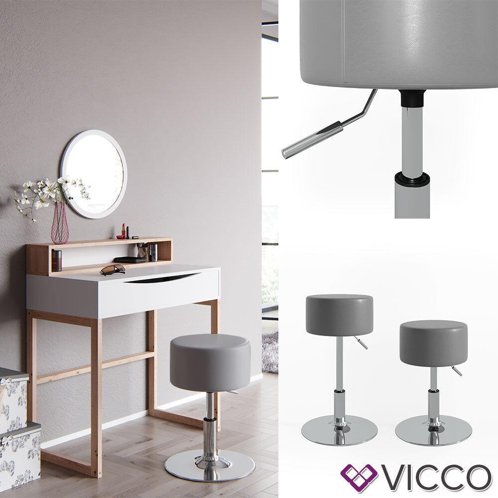 Fantastic Details About Vicco Design Stool Make Up Stool For Dressing Table Height Adjustable Grey Ibusinesslaw Wood Chair Design Ideas Ibusinesslaworg