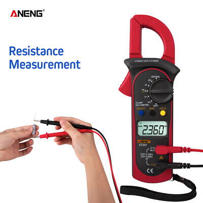 Aneng Digital Clamp Multimeter 4000 Counts Ammeters Transistor Capacitor G7h8