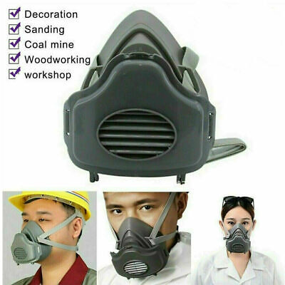 Safety Gas Mask Reusable Respirator Protect Painting Spray Facepiece With Filter
