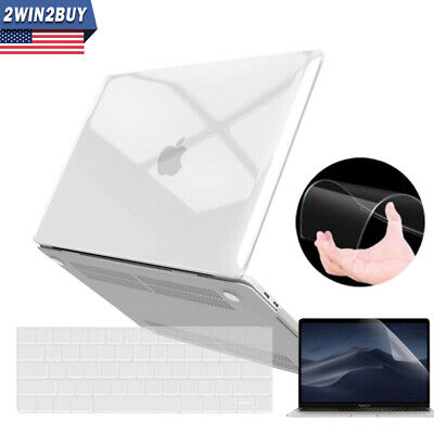 2019 For Macbook Pro 13 Inch Clear Hard Case & Keyboard & Screen Protector A2159