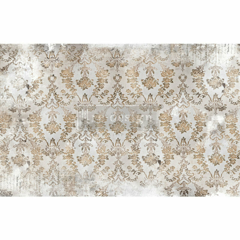 "Re-design Prima Tissue Decoupage Paper 19"" x 30"" -Washed Damask"
