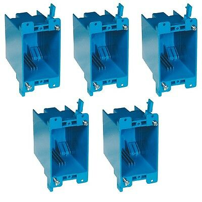 5-pce 20 Single-gang Wall Outlet Switch Old-work Plastic Electrical-box Remodel
