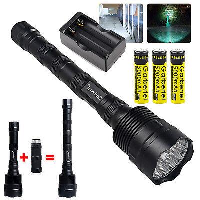 Garberiel 80000 Lumen CREE LED XM-L 3x T6 Tactical Flashlight Torch Super Bright