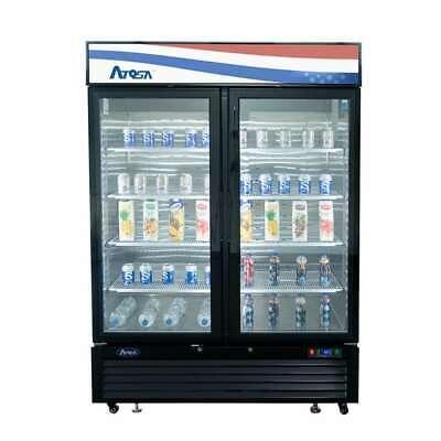 Commercial 2 Glass Door Display Freezer Frozen Food 120v Mcf8721gr Free Liftgate