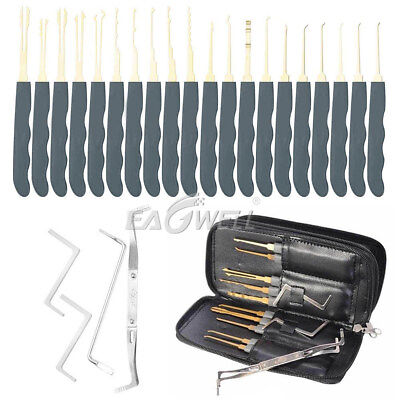24pcs Single Hook Lock Pick Locksmith Tools Practice Padlocks Key Extractor Sets