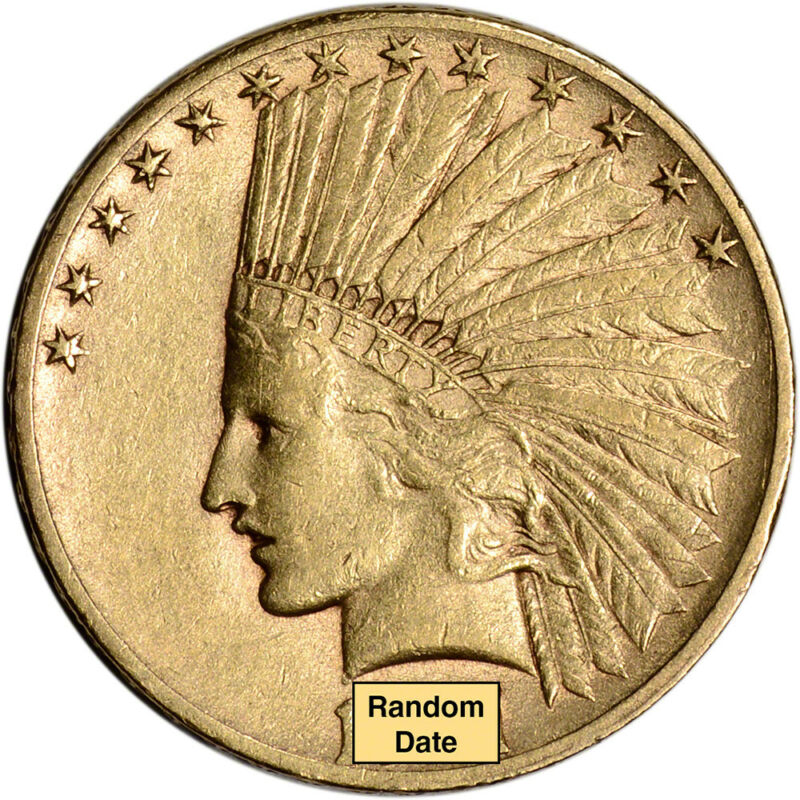 Us Gold $10 Indian Head Eagle - Xf Condition - Random Date