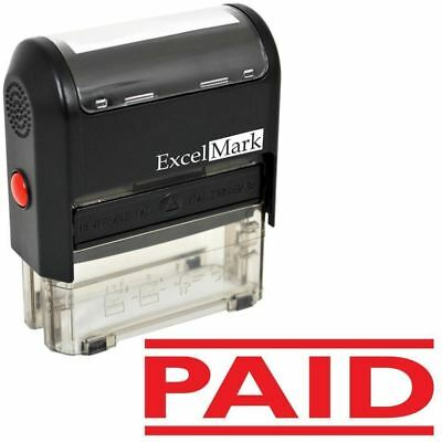 ExcelMark PAID Self Inking Rubber Stamp A1539 | Red - Self Ink Stamps