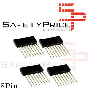 4x-Tira-8-Pines-11-mm-Hembra-2-54-mm-Pin-Header-Row-Electronica-Arduino-SP