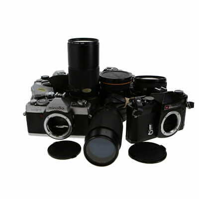 Lot of Assorted 35mm Cameras and Lenses (Film Photography) - (AI)