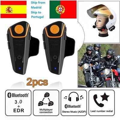 Moto impermeable motocicleta intercomunicador Bluetooth BT-S2 BT 1000M IPX7 ES