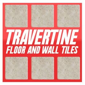 200SQMAVAIL- £1.25/Pk-TUMBLED LIGHT BEIGE STONE EFFECT TRAVERTINE WALL & FLOOR TILE, MUST GO! SALE!
