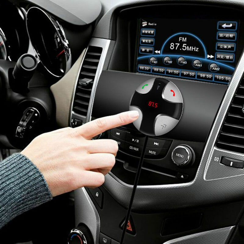 Handsfree Wireless Bluetooth FM Transmitter Car Kit USB Charger Mp3 Player US